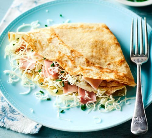 smoked-ham-cheese-pancakes